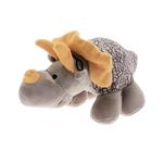View Image 2 of Dino-Rageous Plush Dog Toy - Gray Dino