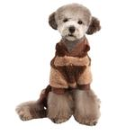 View Image 4 of Dodo Dog Jumpsuit by Puppia - Brown