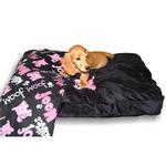 View Image 1 of Dog Bed & Blankie Set - Black