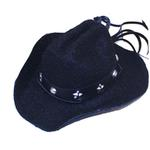 View Image 1 of Dog Cowboy Hat - Black