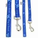 View Image 2 of Dog is Good Bolo Dog Leash - Sky Diver Blue