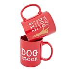 View Image 1 of Dog is Good Doesn't Know Sit Coffee Mug - Red