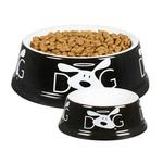 View Image 1 of Dog is Good Halo Dog Dish - Black