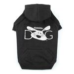 View Image 2 of Dog is Good Halo Dog Hoodie - Black