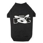 View Image 1 of Dog is Good Halo Dog T-Shirt - Black