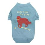 View Image 1 of Dog is Good Make Time for Play Dog T-Shirt - Blue