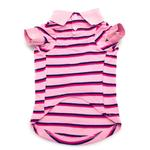 View Image 2 of Dog is Good Striped Polo Dog Shirt - Rose Shadow