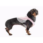View Image 1 of Doggles Reflective Mesh Vest Harness - Pink/Gray