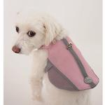 View Image 2 of Doggles Reflective Mesh Vest Harness - Pink/Gray