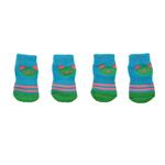 View Image 1 of Doggy Socks - Aqua & Lime Panda