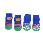 View Image 1 of Doggy Socks - Blue & Green Panda