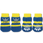 View Image 1 of Doggy Socks - Blue & Yellow King