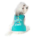 View Image 1 of Dogs Rock and Roll T-Shirt - Aqua
