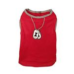 View Image 1 of Dogtag Dog Tank Top - Red