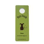 View Image 1 of Don't Let My Dog Out Door Hanger Sign - Green