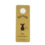 View Image 1 of Don't Let My Dog Out Door Hanger Sign - Yellow
