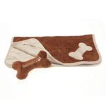 View Image 2 of Donut 3-Piece Dog Bed Set - Brown/Beige
