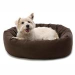 View Image 3 of Donut Dog Bed by Dog Gone Smart - Brown