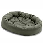 View Image 1 of Donut Dog Bed by Dog Gone Smart - Olive