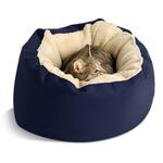 View Image 1 of Donut Sherpa Cat Bed by Dog Gone Smart - Navy