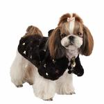 View Image 1 of Doris Hooded Dog Cape by Puppia - Black
