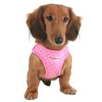View Image 1 of Dotty Dog Harness Vest by Puppia - Pink