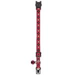 View Image 1 of East Side Collection Academy Argyle Cat Collar - Raspberry