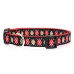 View Image 1 of East Side Collection Academy Argyle Dog Collar - Black