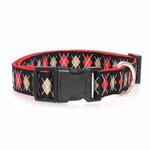 View Image 2 of East Side Collection Academy Argyle Dog Collar - Black