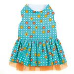 View Image 3 of Blooming Brights Dot Woven Dog Dress