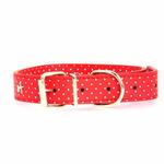View Image 2 of Canine Charmers Dog Collar - Red Stars