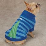 Christmas Star Dog Sweater - Blue