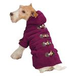 View Image 2 of East Side Collection Corduroy Toggle Dog Coat - Deep Raspberry