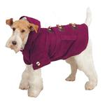 View Image 3 of East Side Collection Corduroy Toggle Dog Coat - Deep Raspberry