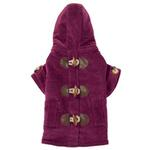 East Side Collection Corduroy Toggle Dog Coat - Deep Raspberry