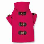 View Image 3 of East Side Collection Corduroy Toggle Dog Coat - Raspberry