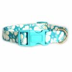 View Image 3 of Hibiscus Dog Collar - Blue