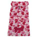 View Image 2 of Heart Fleece Dog Jacket - Pink