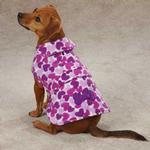 Heart Fleece Dog Jacket - Purple