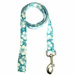 View Image 2 of Hibiscus Dog Leash - Blue