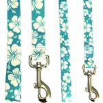 View Image 3 of Hibiscus Dog Leash - Blue