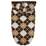 View Image 1 of Hooded Argyle Dog Sweater - Chocolate