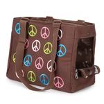 View Image 2 of East Side Collection Peace Sign Pet Carrier