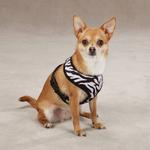 View Image 1 of East Side Collection Plush Animal Print Harness - Zebra