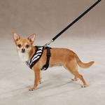 View Image 3 of East Side Collection Plush Animal Print Harness - Zebra