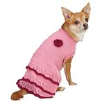View Image 1 of East Side Collection Pointelle Knit Dog Dress - Pink