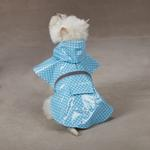 View Image 2 of Polka Dot Rain Jacket - Blue
