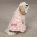 View Image 1 of East Side Collection Posh Fleece Dog Jacket - Pink Leopard