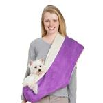 View Image 1 of East Side Collection Reversible Sherpa Sling Carrier - Ultra Violet