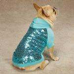 View Image 1 of Sequin Dog Pullover - Blue